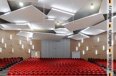 подвесные акустические потолочные паруса облака элементы