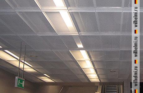 металлические потолочные панели из сетки