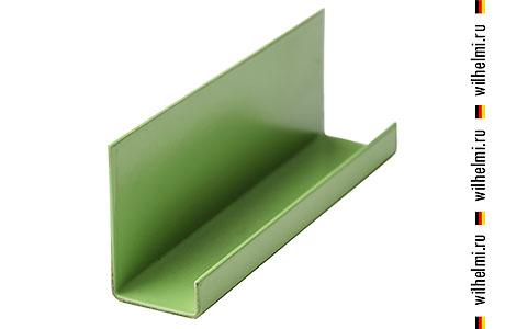 окантовочный П профиль зеленый
