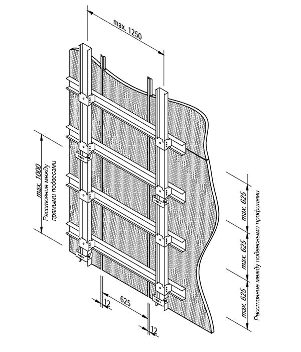 монтажная схема для стен LAH 59