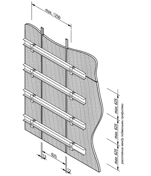 LAH 59 полускрытая система крепления