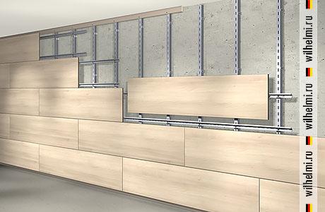 монтаж горизонтальных стеновых панелей встык